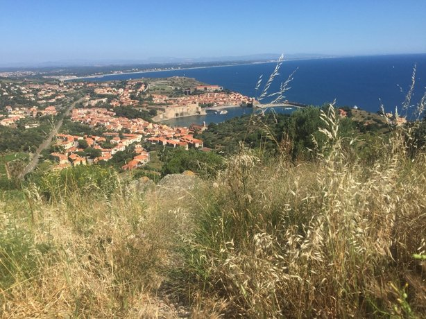 View out over Collioure from Fort Elme