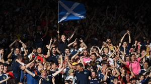 Scotland supporters in full voice