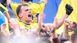 Roscommon's Enda Smith celebrates their Connacht title