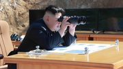 Kim Jong-un, presumably keeping an eye on proceedings at the Carlisle Grounds