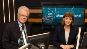 Cathal Mac Coille and Rachael English in the Morning Ireland studio