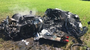 From €300,000 super car to smoldering wreck in one hour