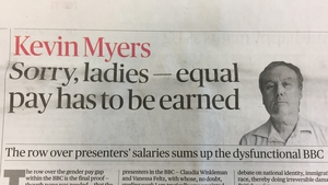 Sunday Times said Kevin Myers will not longer write for the publication