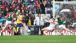 Ciaran Murtagh finds the back of the Mayo net