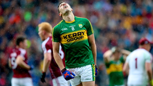 David Moran reacts to a missed chance against Galway