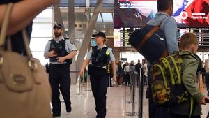Police patrol Sydney airport