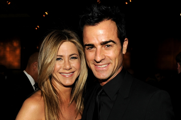 Jennifer Aniston and Theroux attend the 64th Annual Directors Guild Of America Awards reception