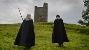 Game of Thrones fans walk towards Audleys Castle in Belfast