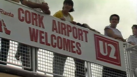 Cork Airport Welcomes U2 (1987)