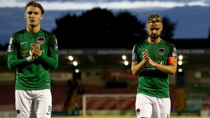 Kieran Sadlier and Greg Bolger dejected after the defeat to Bohs