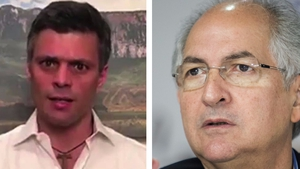 Leopoldo Lopez (L) and Antonio Ledezma had been under house arrest