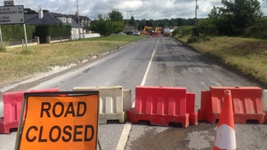 The burst water main had led to road closures