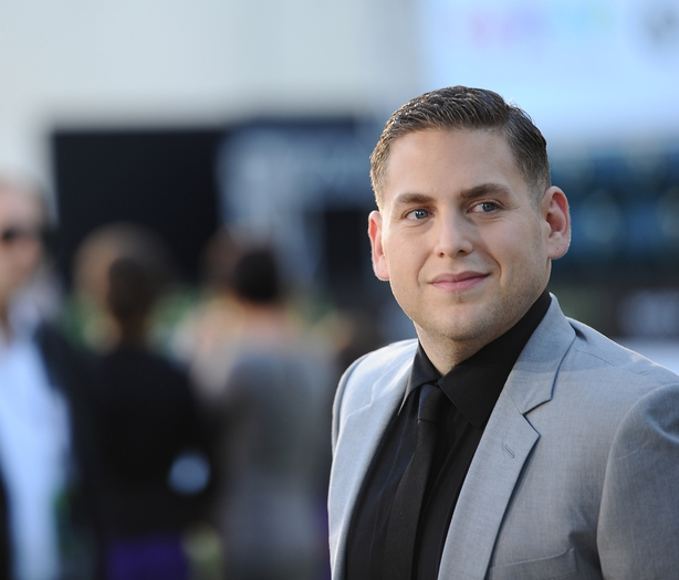 Jonah Hill arrives at the premiere of Columbia Pictures' 'Moneyball'