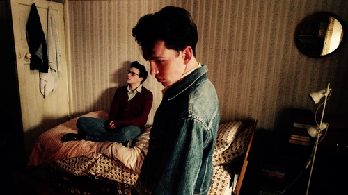 In the laboratory of genius: Jack Lowden (seated) as Morrissey and Laurie Kynaston as Johnny Marr in England is Mine