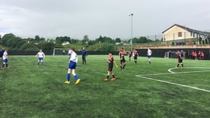 Action from the meeting of Al-Helal and Manorhamilton Rangers