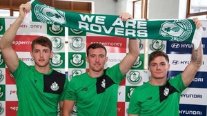 New Shamrock Rovers recruits (l-r) Lee Clarke, Dean Carpenter and Darren Clarke