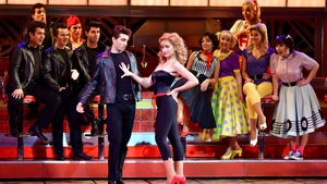 The Wanted's Tom Parker as Danny Zuko and Danielle Hope as Sandy in Grease