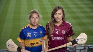 Tipperary's Mary Ryan with Galway's Heather Cooney