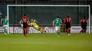 Byrne saves a penalty against Portugal in 2016
