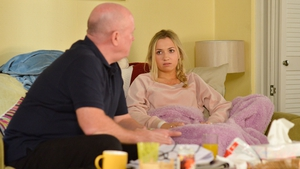 Phil and his daughter Louise have a heart-to-heart on Eastenders