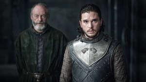 Liam Cunningham and Kit Harington in Game of Thrones