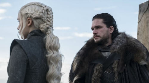 """Kit Harington as Jon Snow with Emilia Clarke as Daenerys Targaryen - """"This can never end the way that Thrones started. It always had to end big"""""""