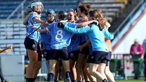 Dublin players celebrate the quarter-final win over Wexford