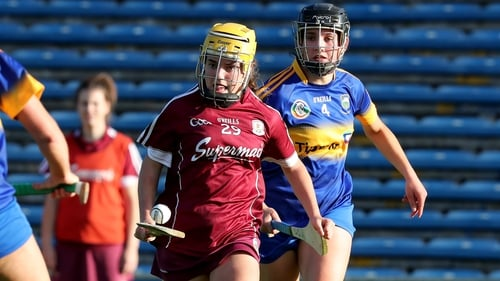 Galway's Siobhan McGrath evades the challenge of Tipperary's Ciannait Walsh