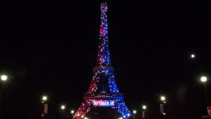 The Tower was lit in the colours of the Paris Saint Germain soccer team when the incident occurred