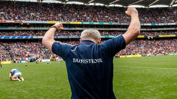 Michéal Donoghue celebrates a dramatic win