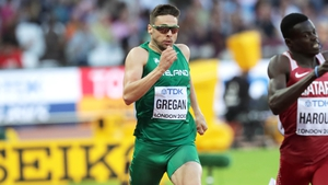 Gregan in action in the 400m semi-finals