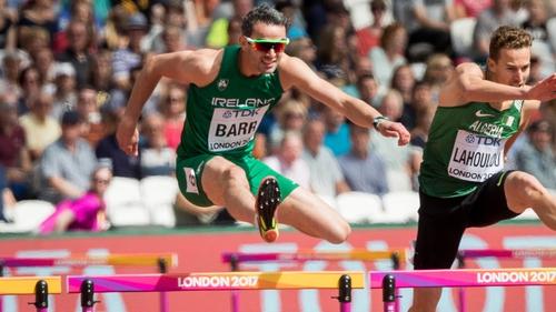 Barr will not run in the 400m hurdles semi-final tonight