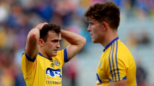 Roscommon's Donal Smith shows his dejection after the trouncing by Mayo