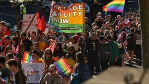 A rally in support of same-sex marriage took place in Sydney on Sunday