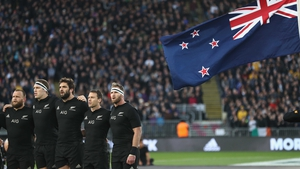 The All Blacks ahead of their Rugby Championship clash with Australia last October