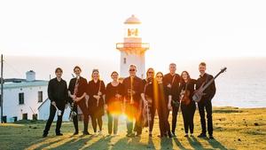 Crash Ensemble gather on Arranmore Island, Co. Donegal.