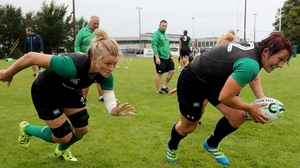Claire Molloy (L) and Lindsay Peat are put through their paces