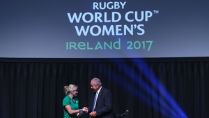 Bill Beaumont with Claire Molloy at the opening ceremony in the Mansion House