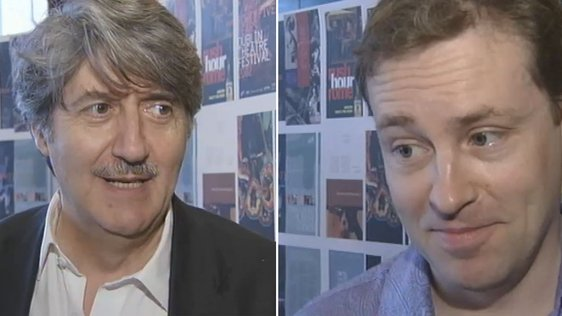 Tom Conti and Ardal O'Hanlon at the Dublin Theatre Festival Programme Launch (2002)