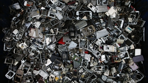 Most waste seized was metal or electronic