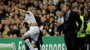 Mourinho gets to grips with Bale, then a Spurs player, in 2011