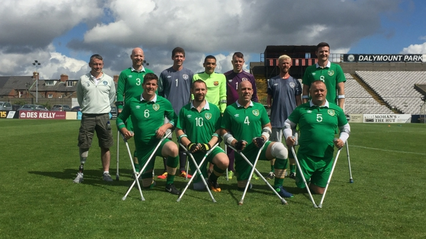 Stefan with the Irish Amputee football team