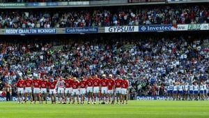 Cork and Waterford teams prior to the drawn All-Ireland quarter-final in 2007