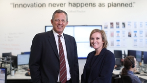 KBC Bank Ireland CEO Wim Verbraeken (L) and Dara Deering, Executive Director, Retail Banking (R)