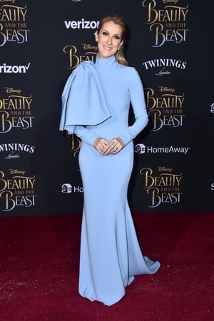 Beautiful in blue at the 'Beauty and the Beast' premiere this year. This full length Siriano gown with high collar and huge bow detailing is something only Celine could pull off so elegantly.