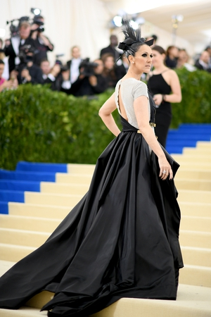 Celine slayed the 2017 MET Gala red carpet wearing a bespoke Versace gown and Bulgari jewellery.