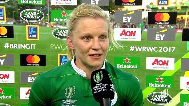 The Irish women's rugby team take on Japan on Sunday
