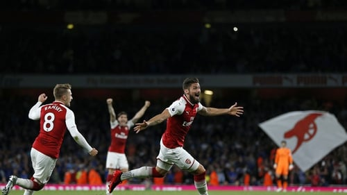 Olivier Giroud headed home the winner with five minutes left