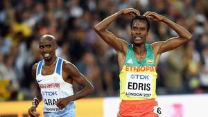 Muktar Edris of Ethiopia got the better of Mo Farah