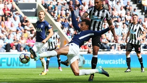 Dele Alli stretches to put Spurs in front at St James's Park